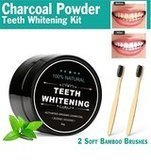 Real Vibes Activated Charcoal Teeth Whitening Powder Kit