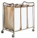 Deco Brothers Heavy-Duty 3-Bag Laundry Sorter Cart