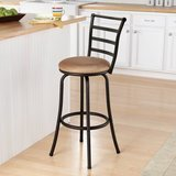 Mainstays Black Ladder Barstool