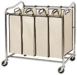 Simple Houseware 4-Bag Heavy-Duty Rolling Laundry Sorter Cart