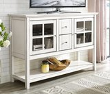 WE Furniture Wood Console Table Buffet TV Stand
