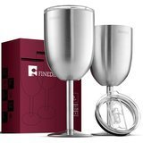 FINEDINE Premium Grade 18/8 Stainless Steel Wine Glasses