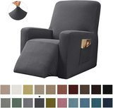 Chunyi 1-Piece Stretch Spandex Jacquard Recliner Chair Slipcover