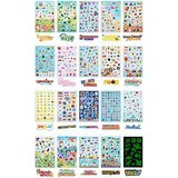 Cortesia Year-Round Seasonal Sticker Bulk Pack for Kids, 1,786 Stickers
