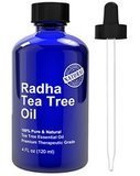 Radha Beauty 100% Pure and Natural Tea Tree Essential Oil, 4 oz.