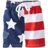 Kanu Surf Boys' American Flag Swim Trunk