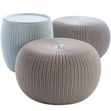 Keter Urban Knit Pouf Set