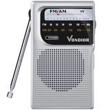 Vondior AM/FM Battery Operated Portable Pocket Radio